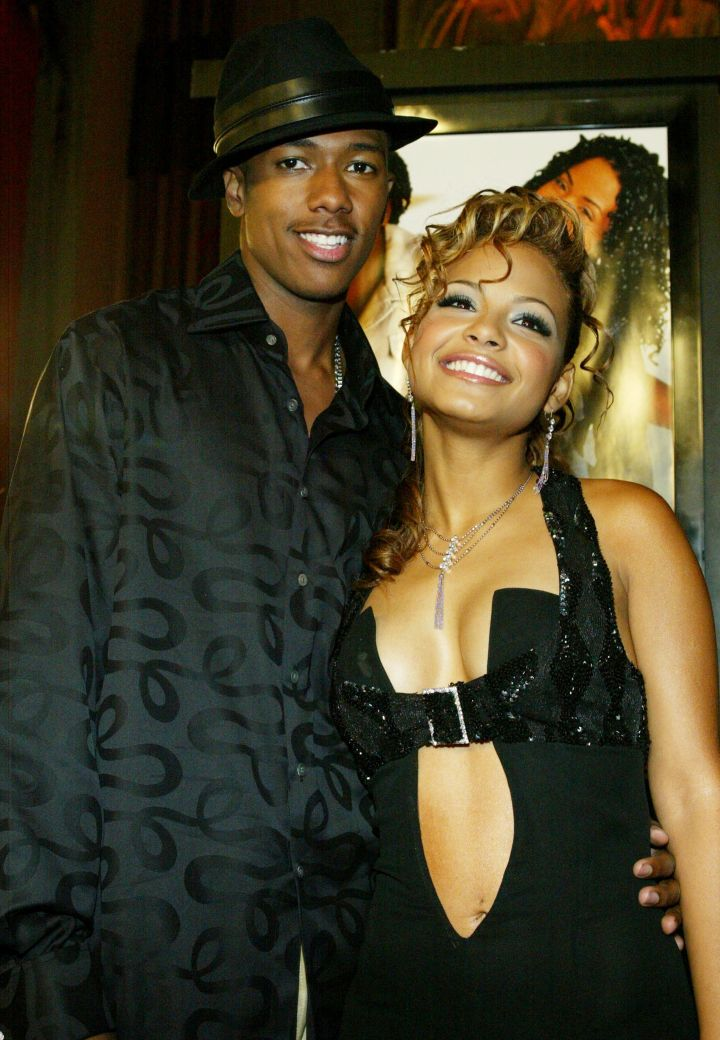 Nick Cannon hit the carpet with his ex-girlfriend Christina Milian back in 2003.