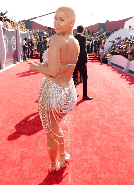 Amber Rose getting her shine on.