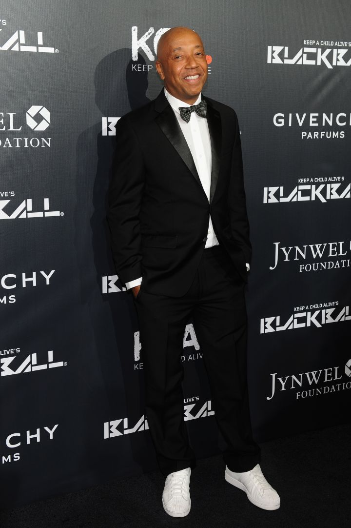 Russell Simmons Is All Smiles in his adidas.