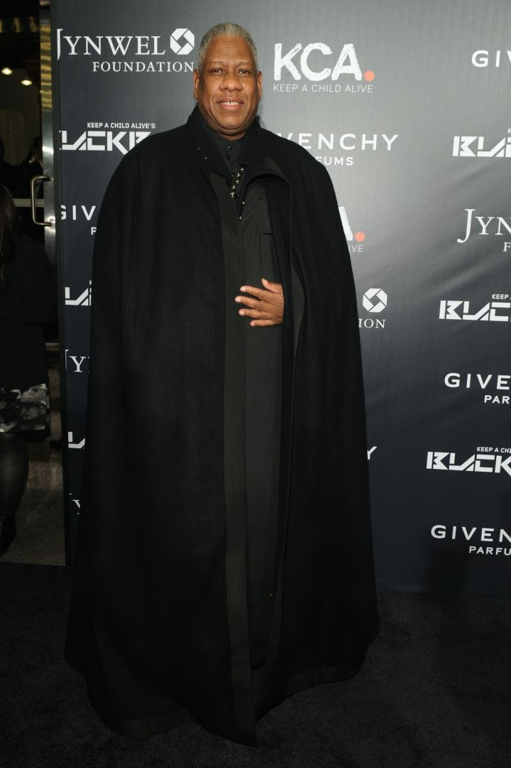 Andre Leon Talley put on a fine cape for the evening.