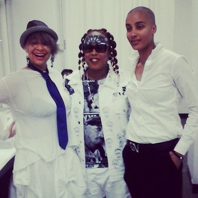 The cute couple hung out with Da Brat.