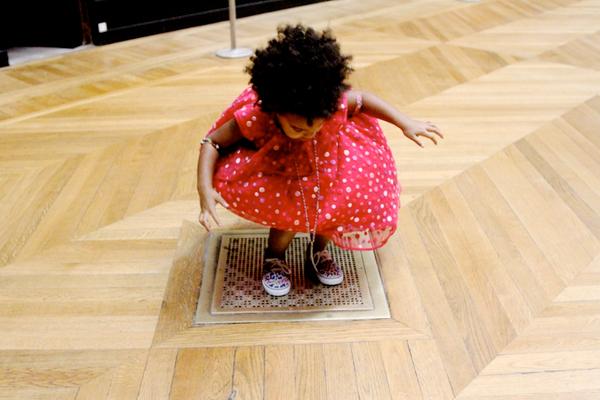 B.I.C is too cute in her polka dot dress.