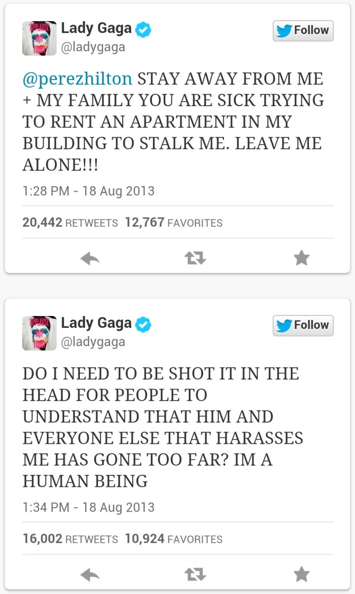 LADY GAGA VS. PEREZ HILTON (2013)