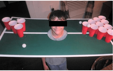 We're sure he can wait until college to be introduced to this game.