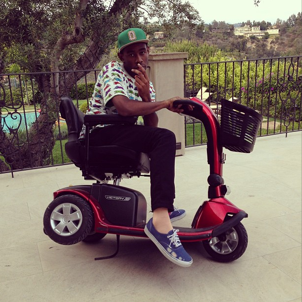 This is Tyler, The Creator riding around and getting it.