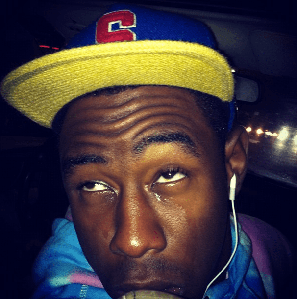This is Tyler, The Creator crying.