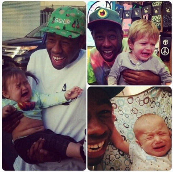 This is Tyler, The Creator, and he loves the kids.