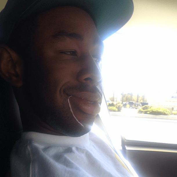This is Tyler, The Creator and he has decent dental hygiene.