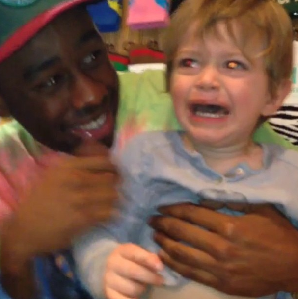 This is Tyler, The Creator, and the kids don't love him back.