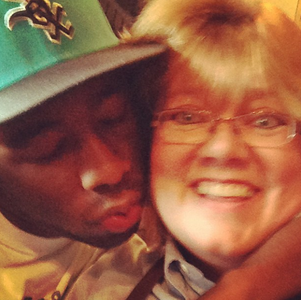 This is Tyler, The Creator kissing some woman.