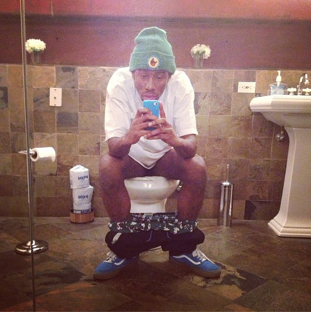 This is Tyler, The Creator on the toilet.