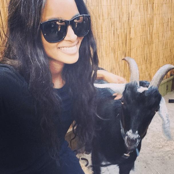 Ciara takes a goat selfie!