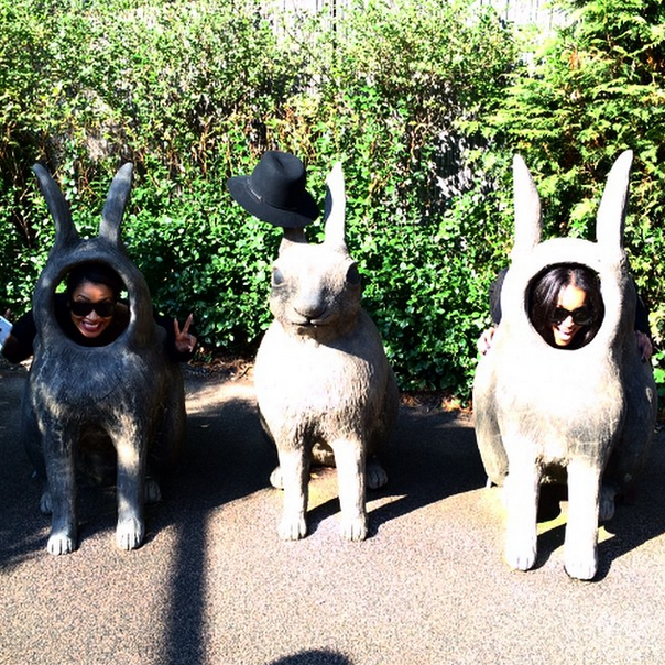 Ciara and Lala have some fun in a goat body.