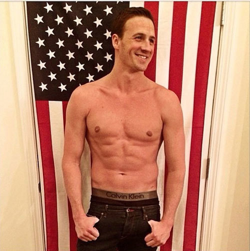 One word for Ryan Lochte in Calvins: Perfection.