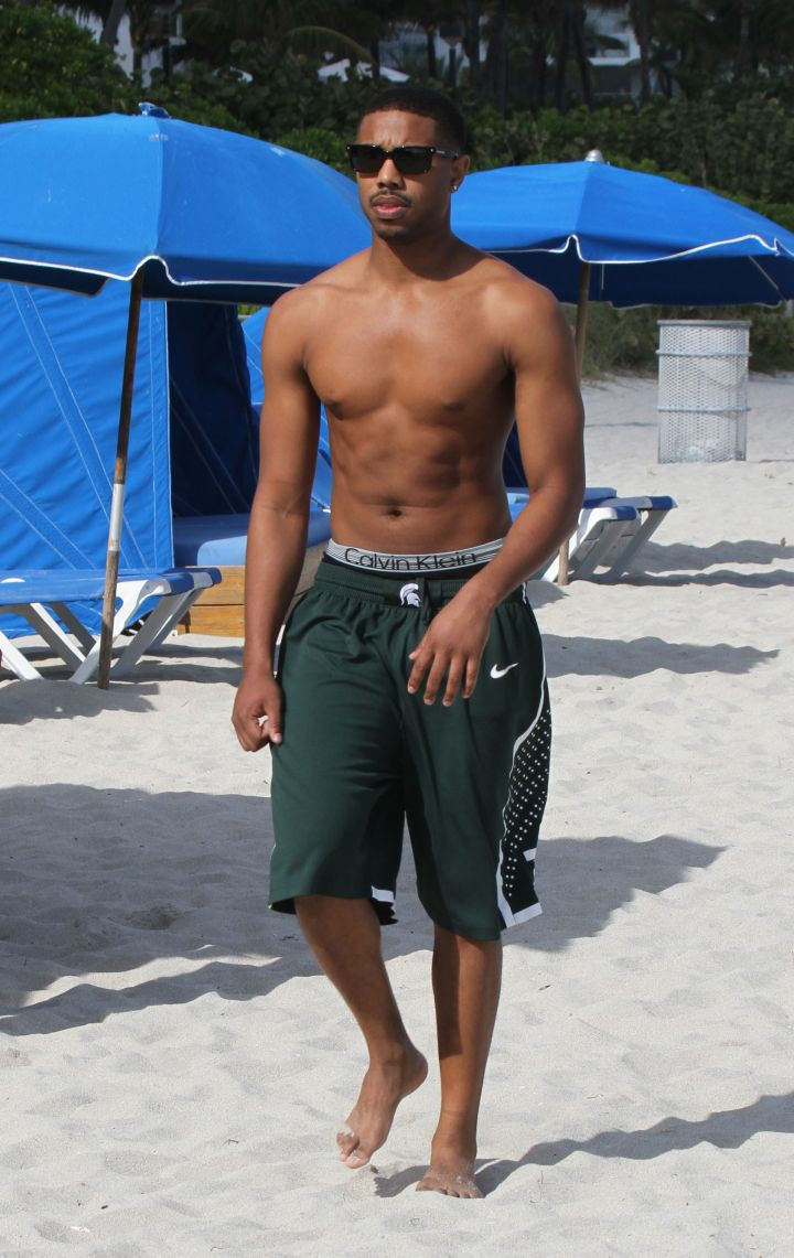 Michael B. Jordan, one of the hottest new stars of the year, shows us he has swag even during his down time in Calvins.