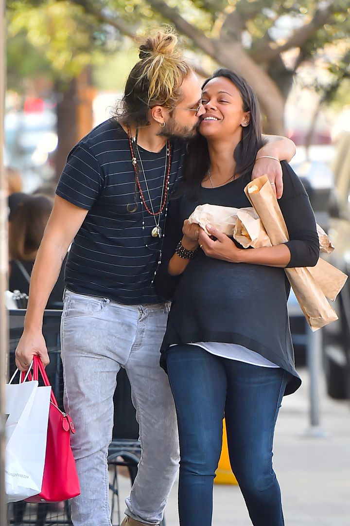 Zoe Saldana didn't believe in marriage until she met her now-husband Marco Perego.