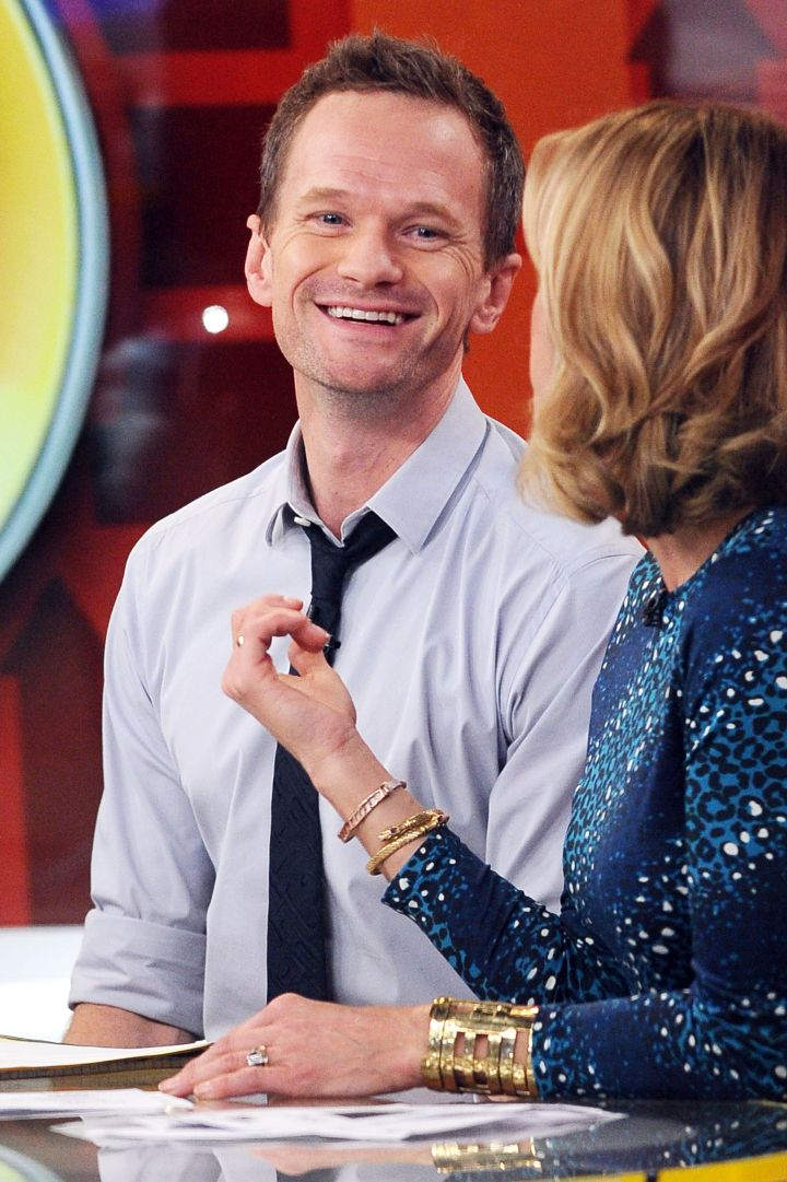 "Neil Patrick Harris' smile is legendary on the set of ""Good Morning America"" in NYC."