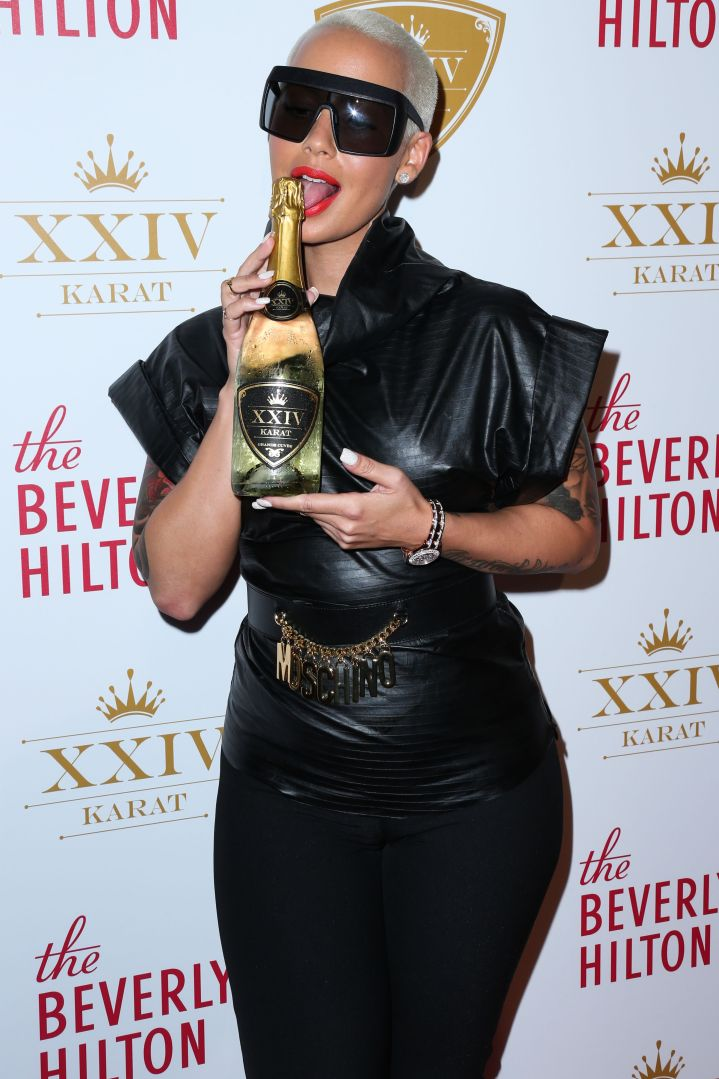 Muva Rosebud channels her inner dominatrix at the launch party for XXIV Karat.