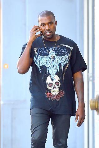kanye west talking on the phone