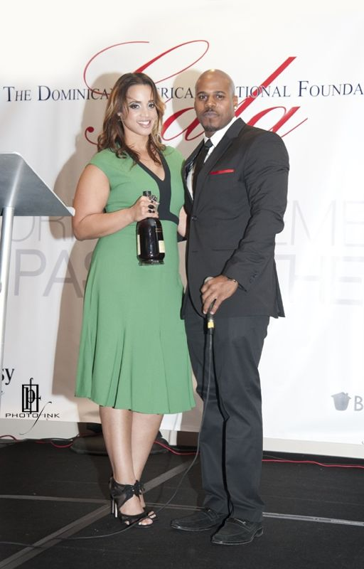 """Dascha Polanco of the hit series """"Orange is the New Black"""" accepted an engraved bottle of Hennessy Privilege at the Dominican American National Foundation Gala in Miami."""