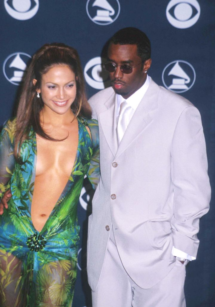 """Jennifer Lopez & Sean """"Puffy"""" Combs were the perfect couple at the 42nd Annual Grammys."""