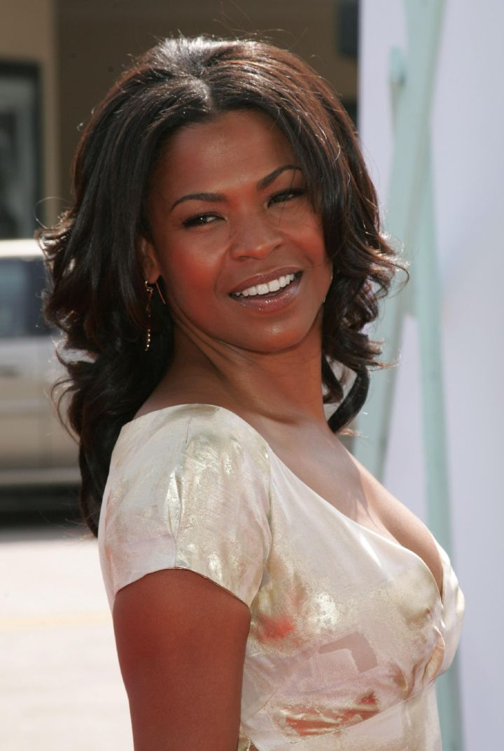 Nia Long looks back at it.