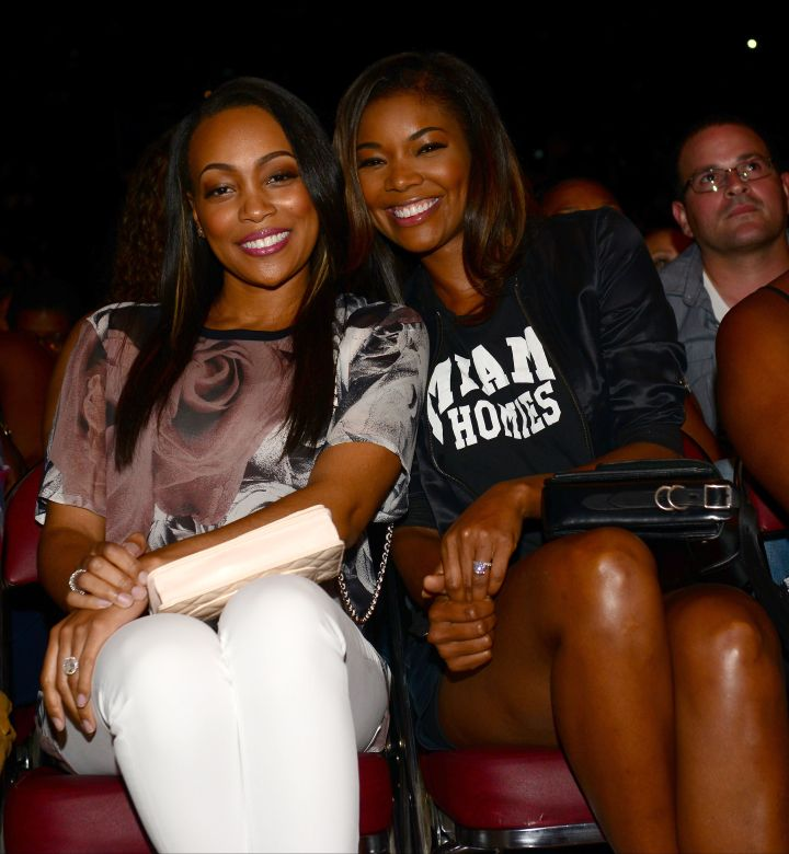 Besties Monica and Gabrielle Union get ready to laugh out of their seats at Shaq's All-Star Comedy show.