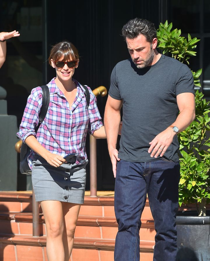 Going strong! Ben Affleck takes his wife Jennifer Garner out to Tavern in Brentwood.