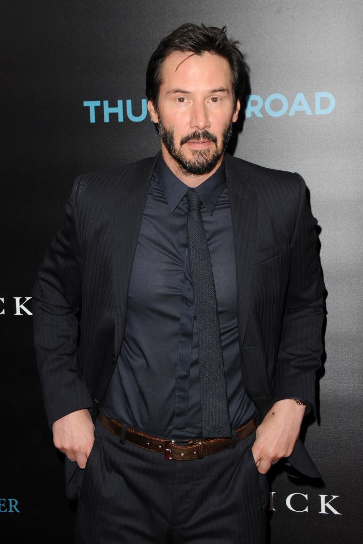 """Keanu Reeves works it out in all black everything at a special screening of """"John Wick."""""""