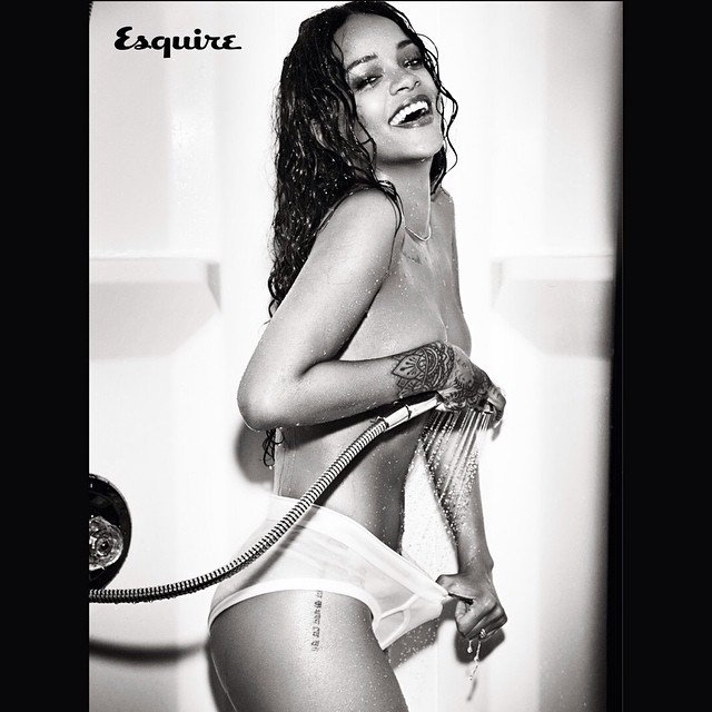 RiRi puts on a show for Esquire Magazine.