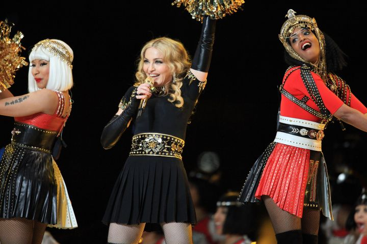 Madonna Performing With Nicki Minaj & Sri Lankan Rapper M.I.A.