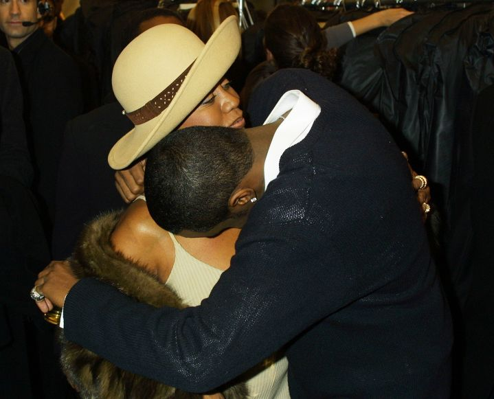 Mama's boy. Diddy gave his mother, Janice Combs, a big squeeze right after a Sean John fashion show.