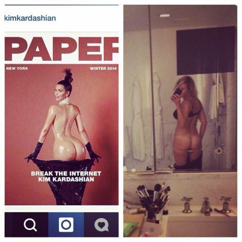 Chelsea Handler kim kardashian ass instagram