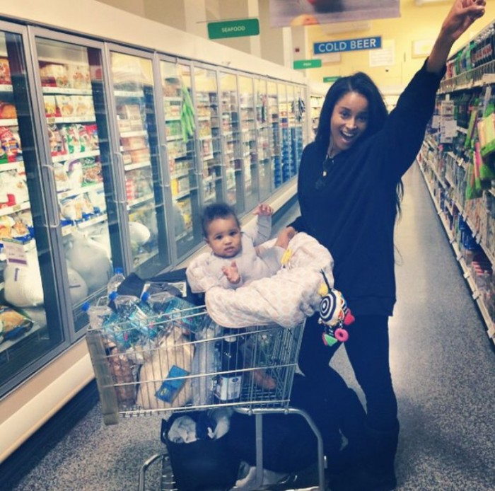 Ciara goes shopping with Baby Future.