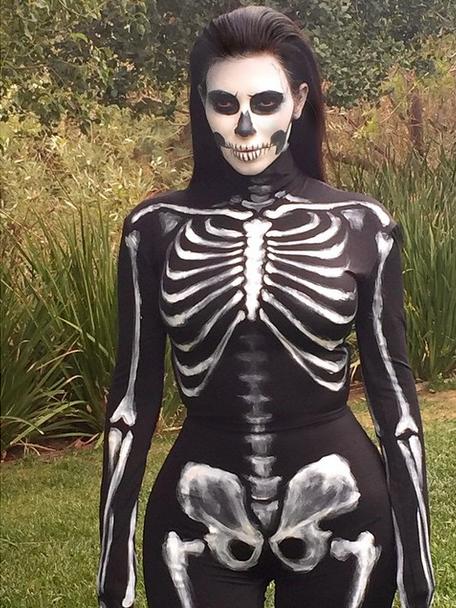 Kim Kardashian is a skeleton.
