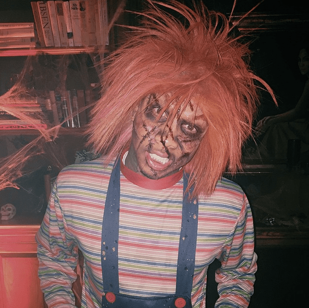 Tyga dresses up as Chuckie.