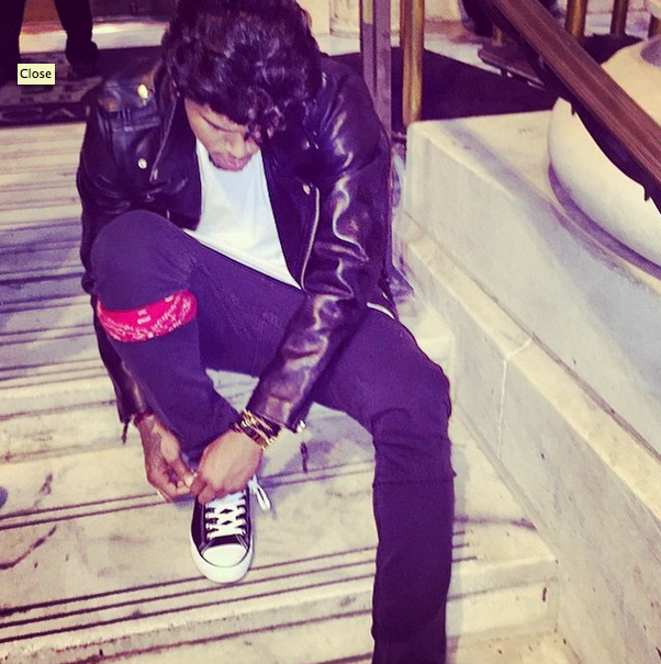 Chris Brown channels his inner 'Grease.'
