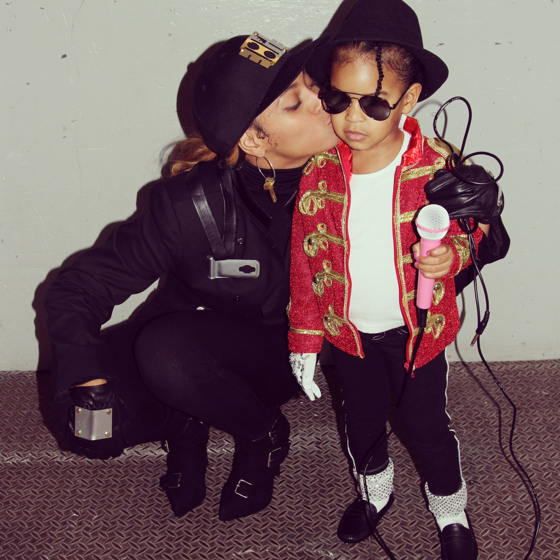 Beyonce gave us many looks this Halloween, but none was cuter than these Janet and Michael Jackson costumes she and Blue sported.