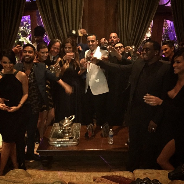 French poses with all of his guests.
