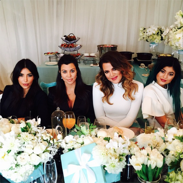 Kim, Kourtney, Khloe, and Kylie pose for a flick.