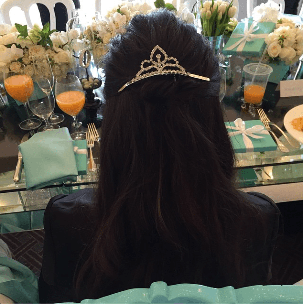 Kourtney was the princess of the day.