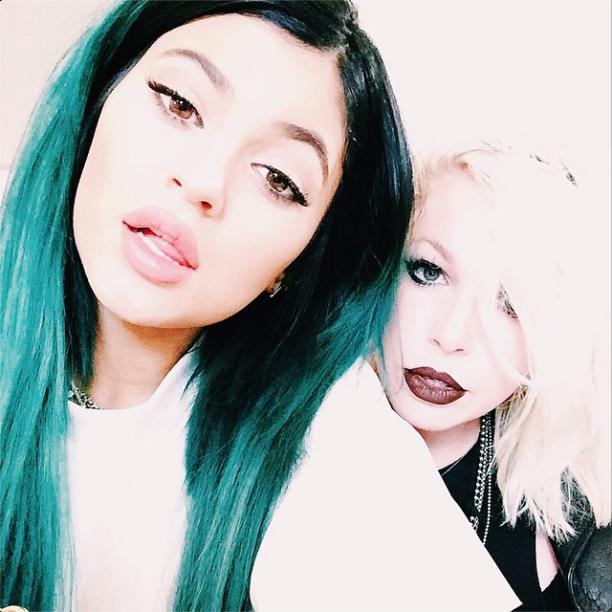 Kylie and Joyce Bonelli get a selfie in.