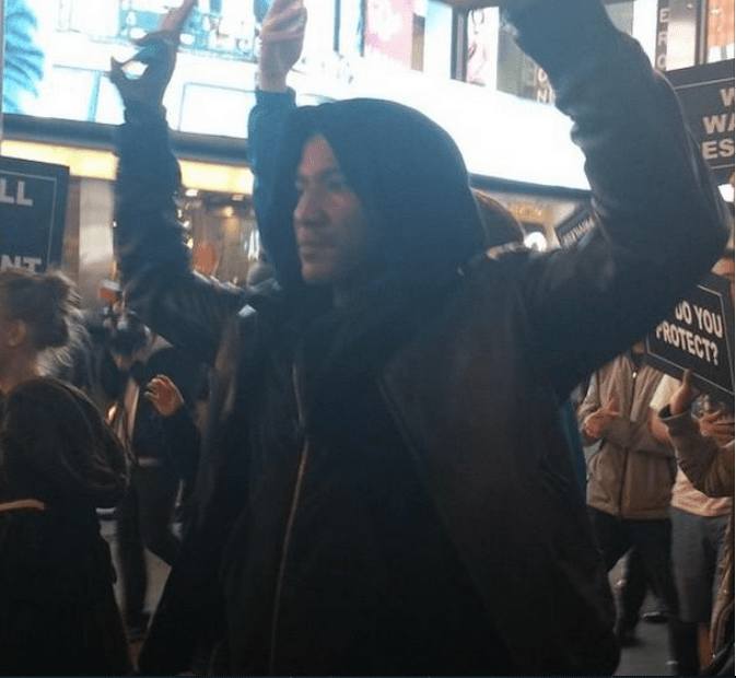 Q-Tip joined the Mike Brown protests in New York.