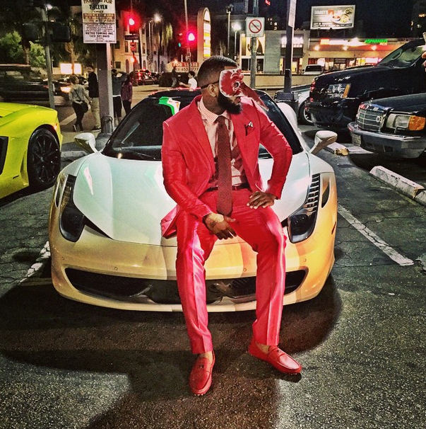 The Game shows off his b-day swagger.