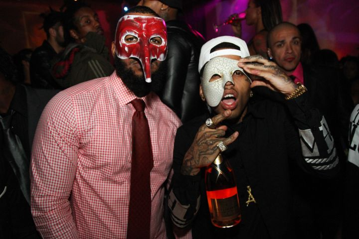 The Game and Kid Ink pose for a quick photo.
