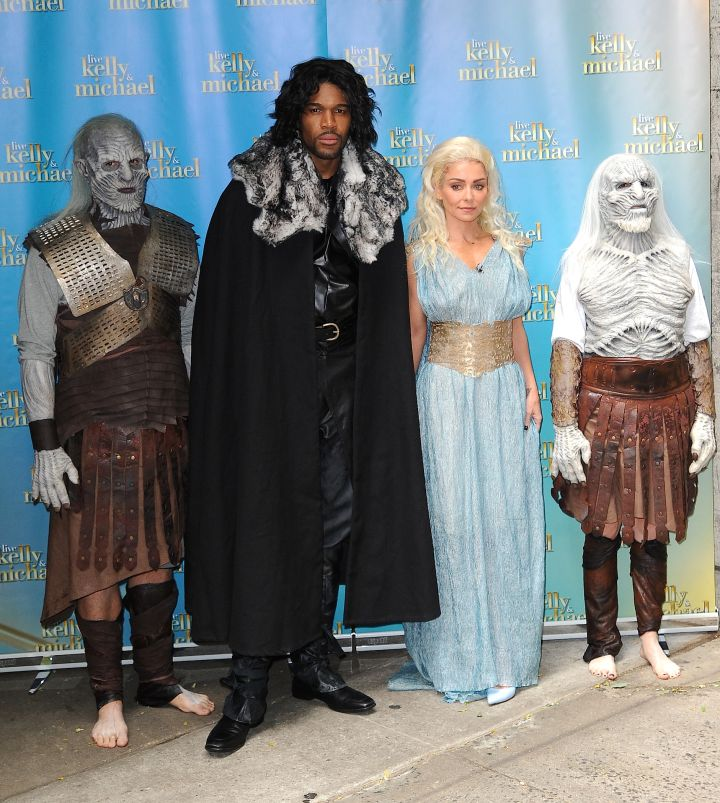 Michael Strahan and Kelly Ripa dress up in their second Halloween outfits.