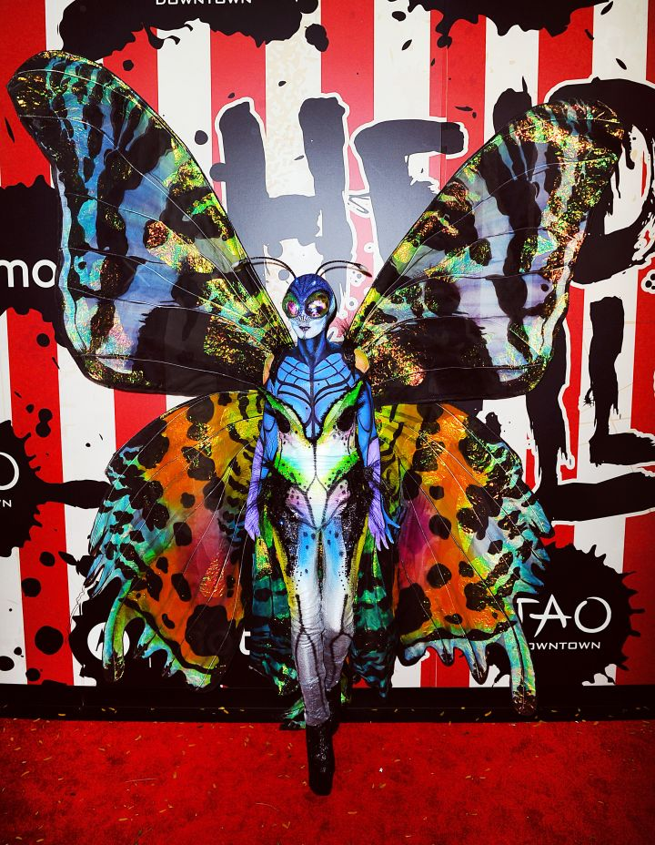 Heidi Klum is unrecognizable as a butterfly.