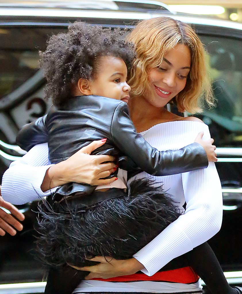 Beyonce and Blue Ivy Carter out and about in NYC
