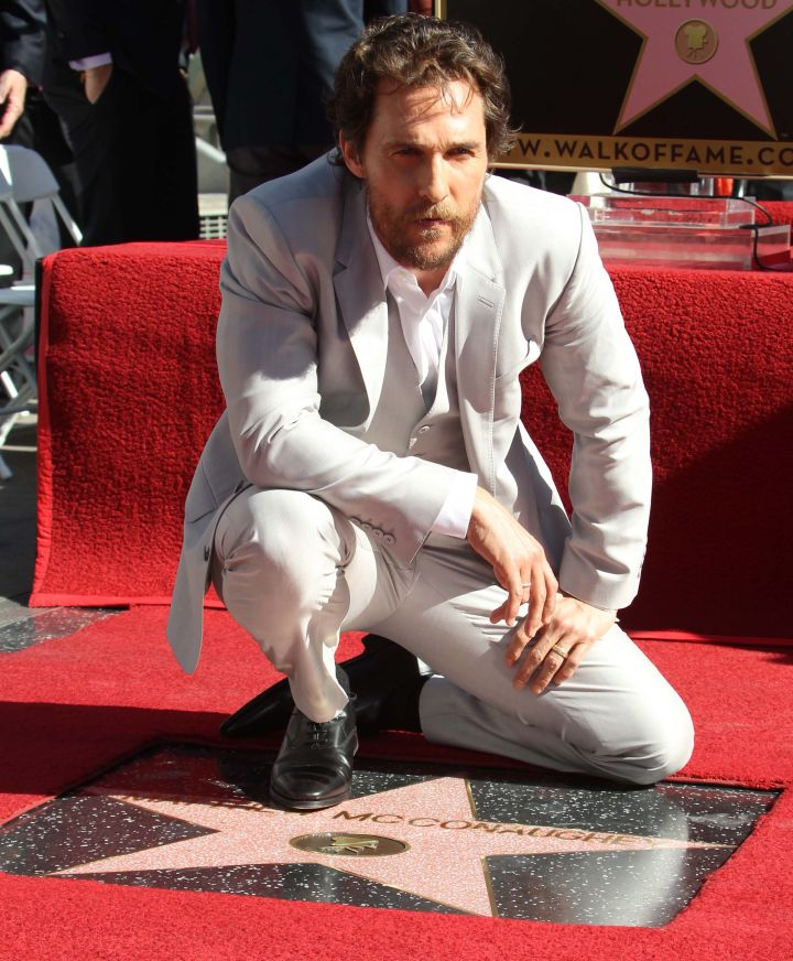 Matthew McConaughey gets his star on the Hollywood Walk Of Fame along Hollywood Boulevard in Hollywood, CA.