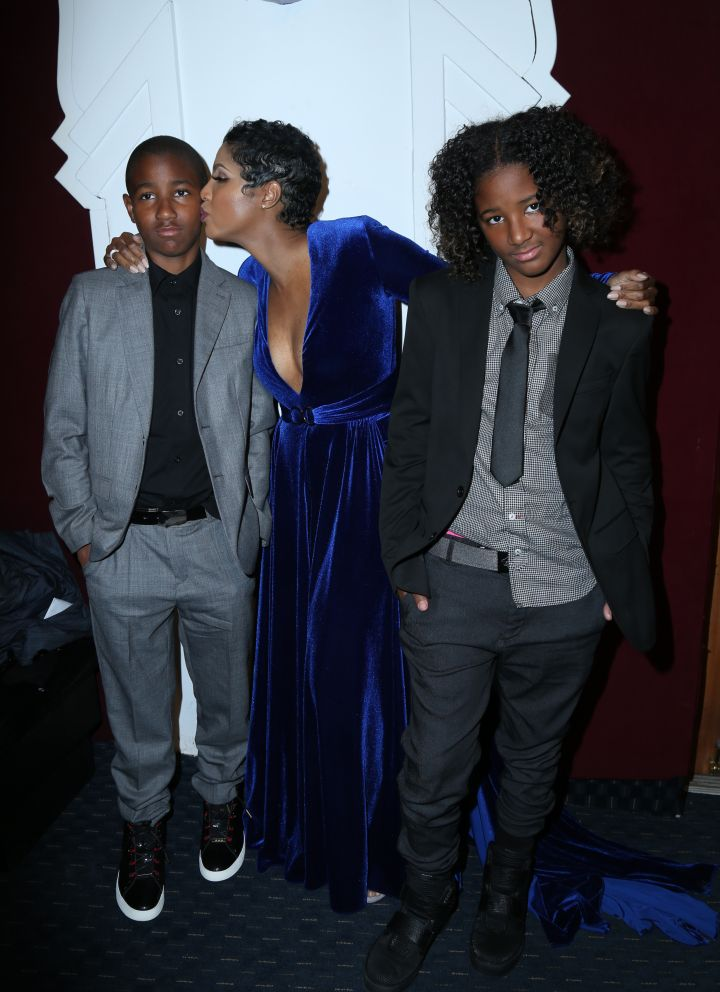 As she poses with her sons as they arrive at the 24th Annual NAACP Theater Awards at the Saban Theatre in Los Angeles, Toni Braxton proves even that international music stars can be uncool parents.